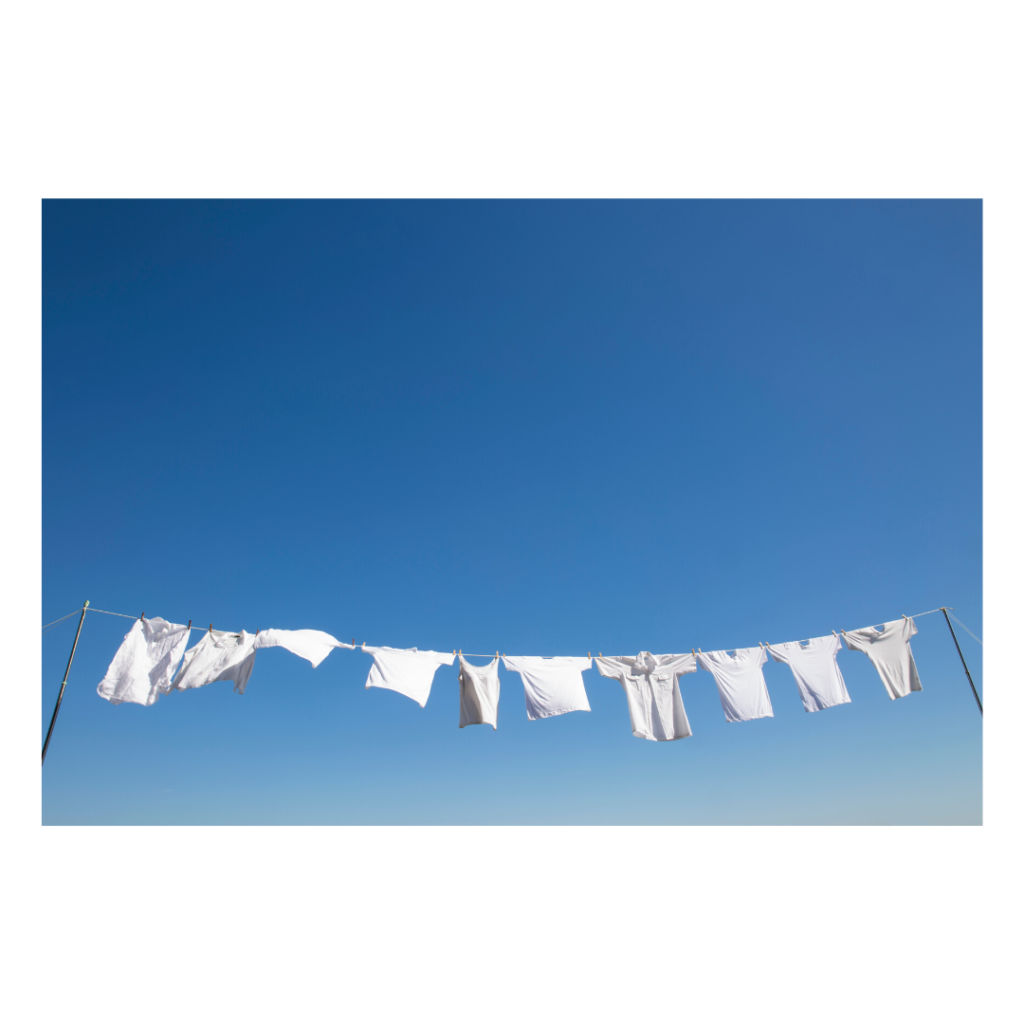 White Garments Hung Up