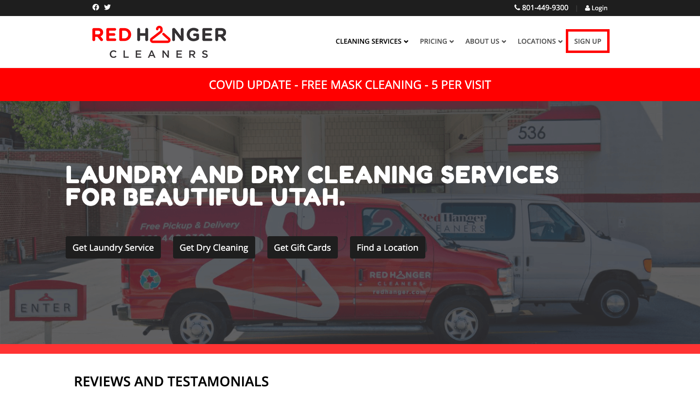 Utah's Favorite Cleaners since 1962 with state-wide locations and delivery services.
