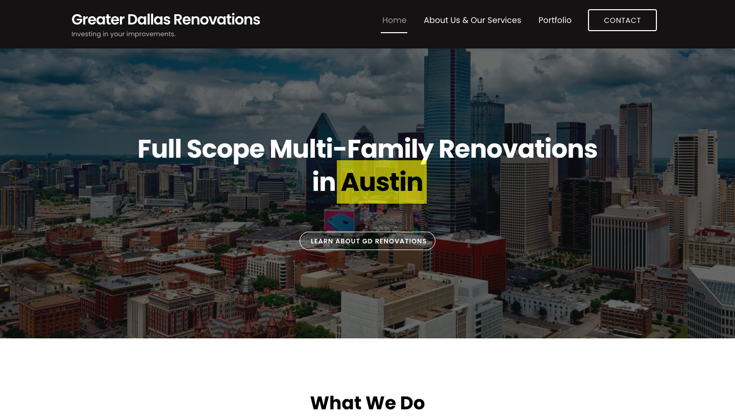 GDR provides the highest quality construction, renovation and restoration for management companies in the multifamily and commercial construction industry.